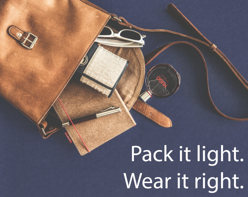 Pack it light. Wear it right: Handbags