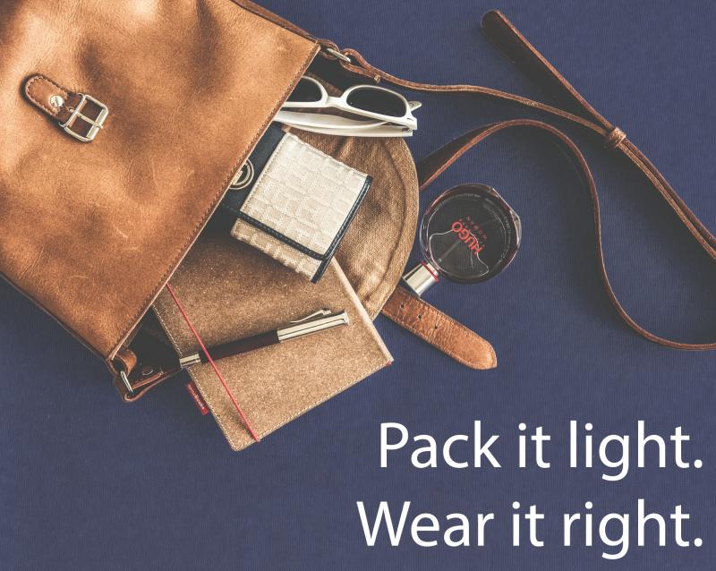 Pack it light. Wear it right: Handbags