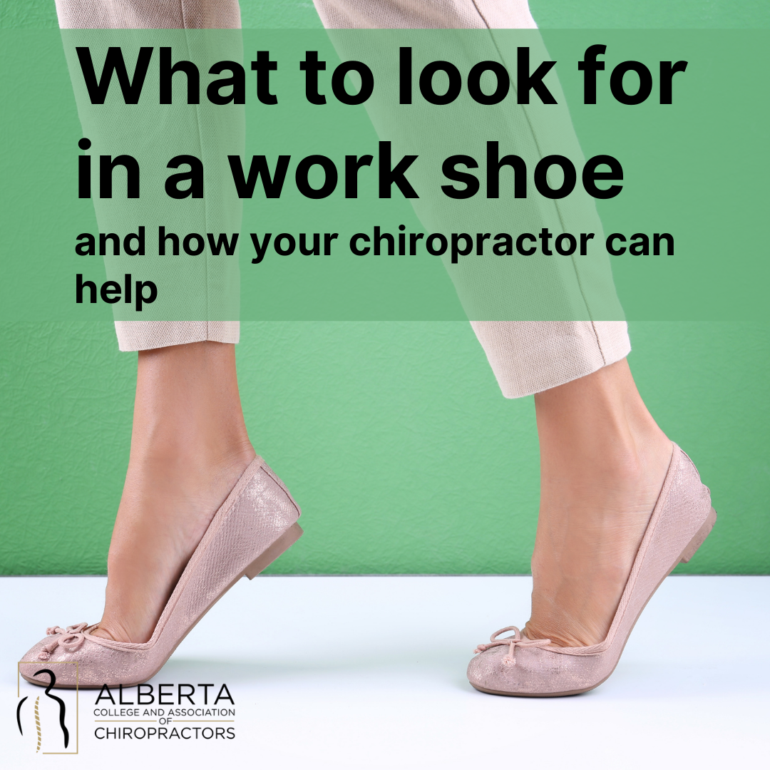 What to look for in a work shoe and how your chiropractor can help