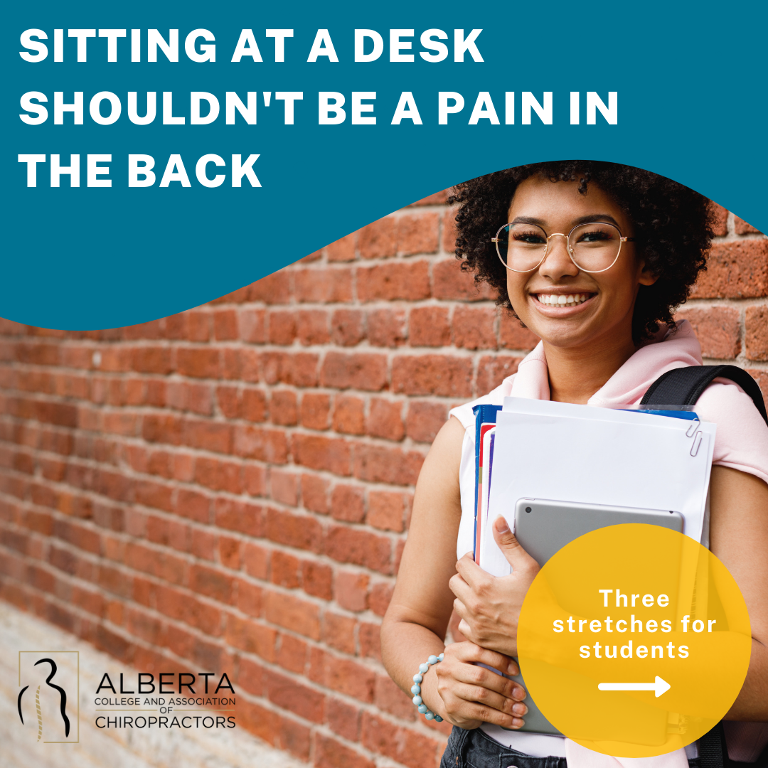 Sitting at a desk shouldn't be a pain in the back: three stretches for students
